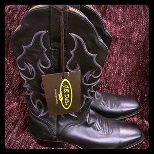 J.B. Dillon Cowboy Boots BNWT Black